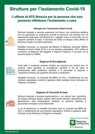 Strutture e servizi per l\'accoglienza in isolamento di persone positive al COVID-19