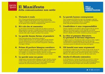 Il Comune di Gardone Val trompia aderisce al Manifesto della comunicazione non ostile per la Pubblica Amministrazione